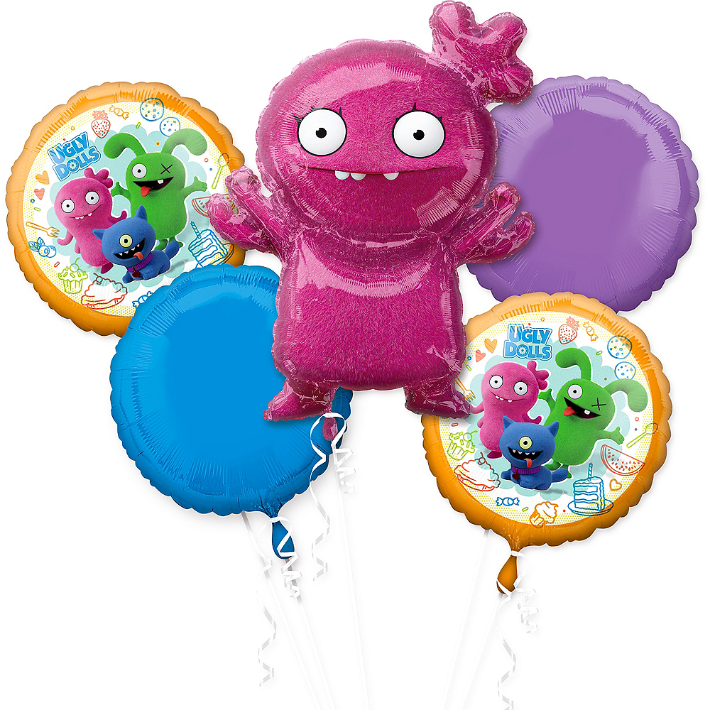 Nav Item for UglyDolls Moxy Balloon Bouquet 5pc Image #1