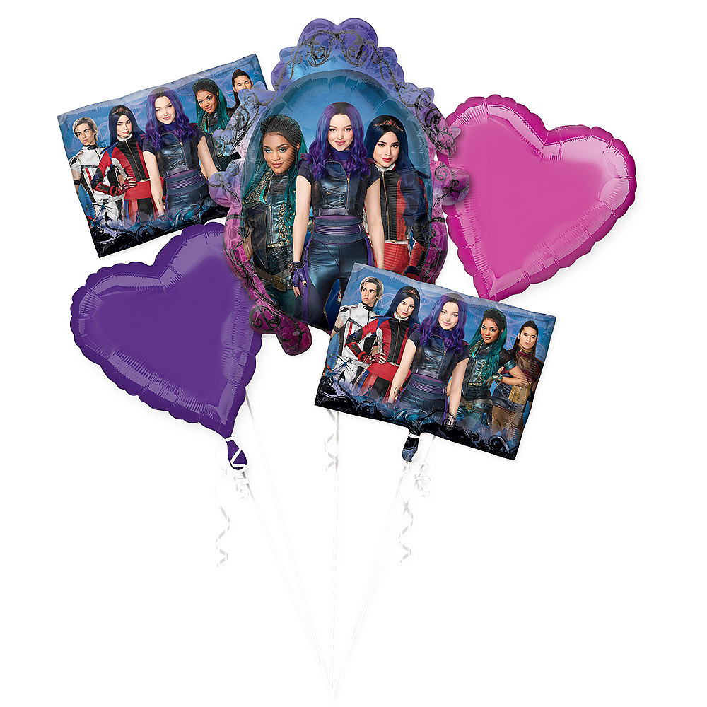 Descendants 3 Balloon Bouquet 5pc Image #1