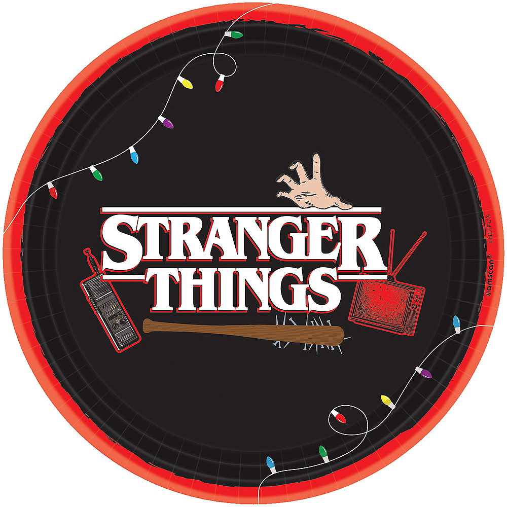Stranger Things Lunch Plates 8ct Image #1