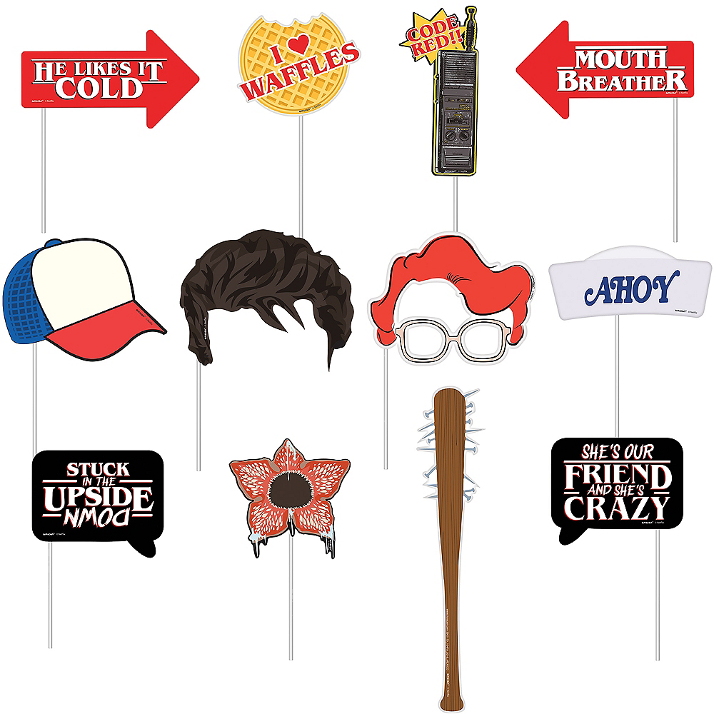 Stranger Things Photo Booth Props 13ct Image #2