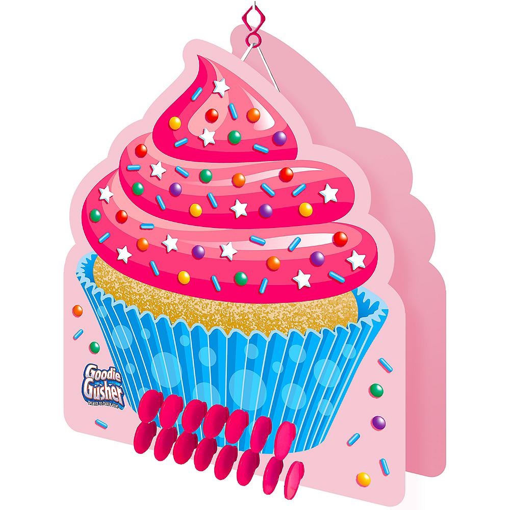 Goodie Gusher Pink Cupcake Pinata Image #1