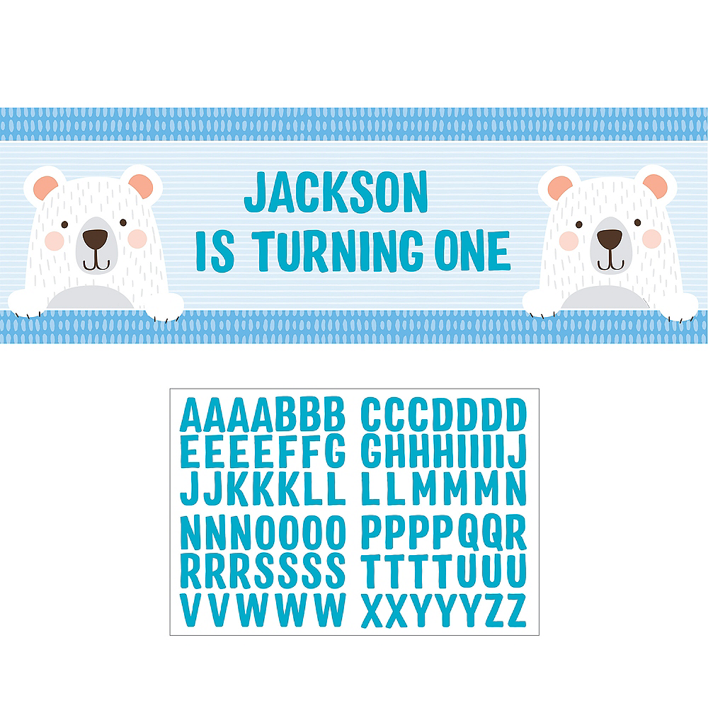 Giant Beary Cute Personalized Birthday Banner Kit Image #1