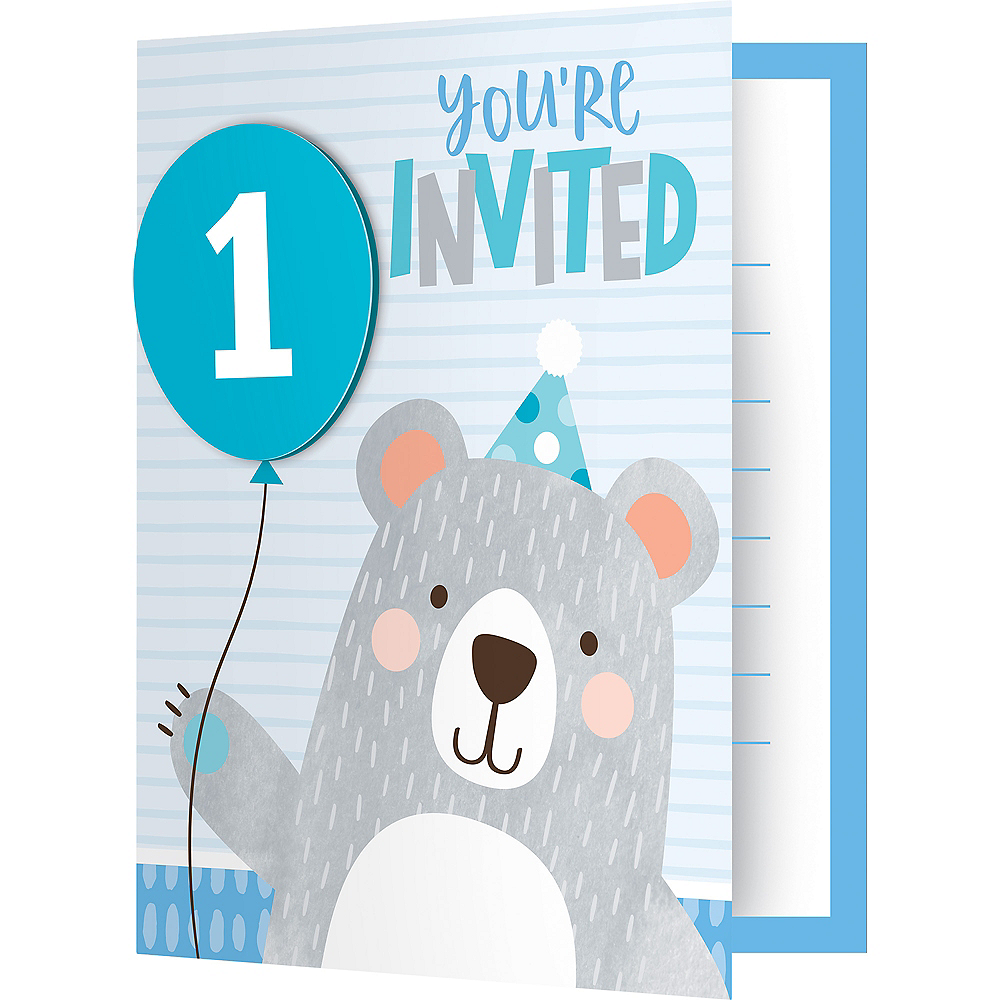 Beary Cute Invitations 8ct Image #1