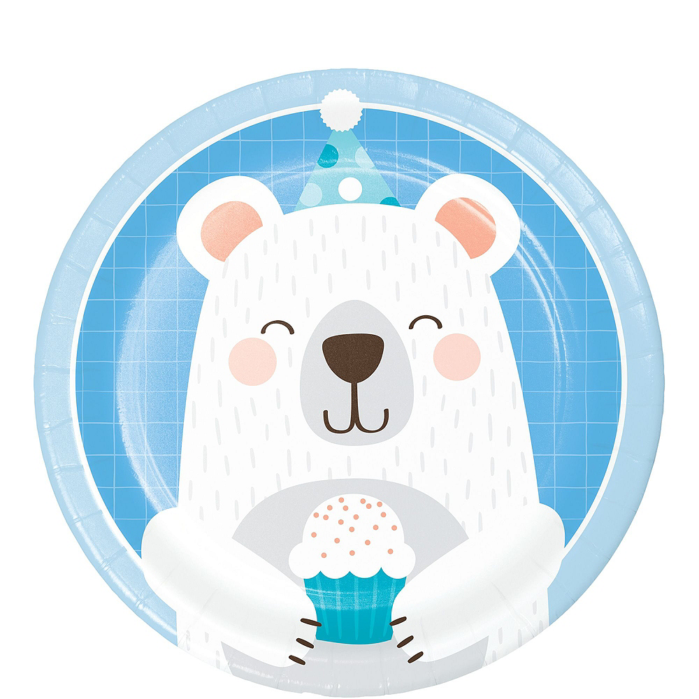Beary Cute 1st Birthday Tableware Kit for 32 Guests Image #2