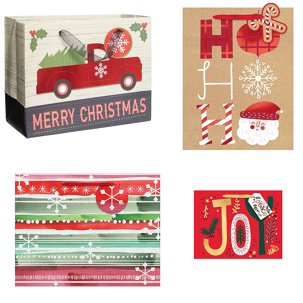Medium Size Christmas Gift Bag Bundle 12pc Image #1