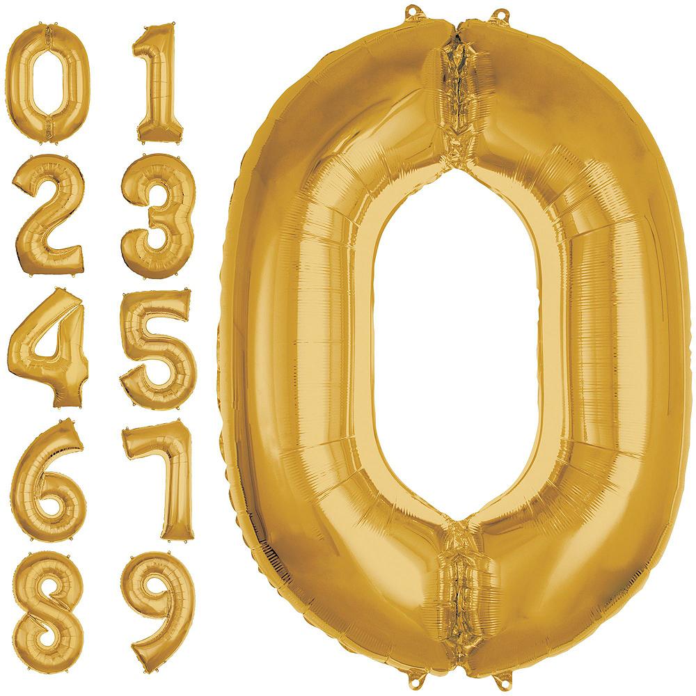 Giant Gold 2021 Number Balloon Kit Image #3