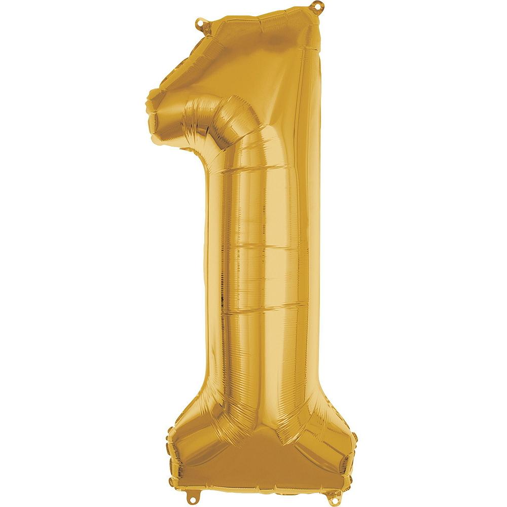 Giant Gold 2021 Number Balloon Kit Image #4