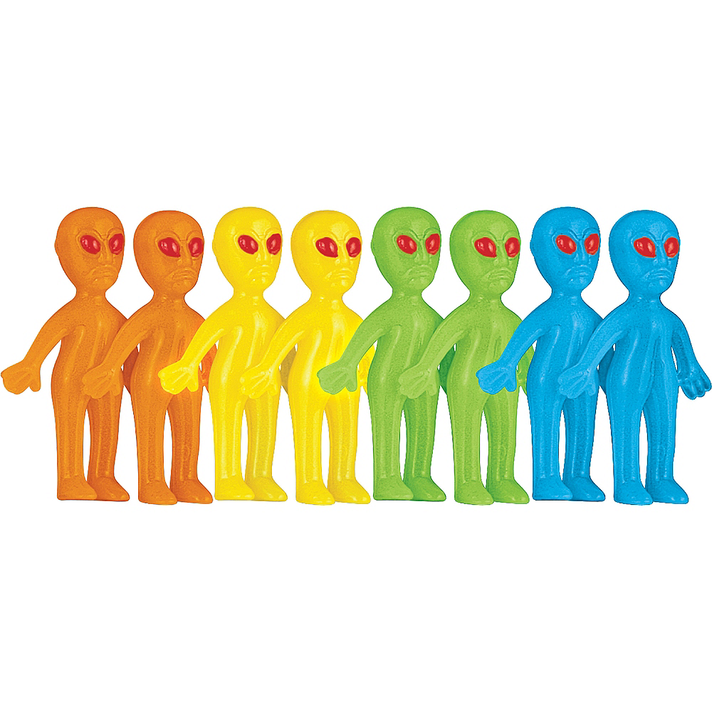 Glow-in-the-Dark Alien Favors 8ct Image #1