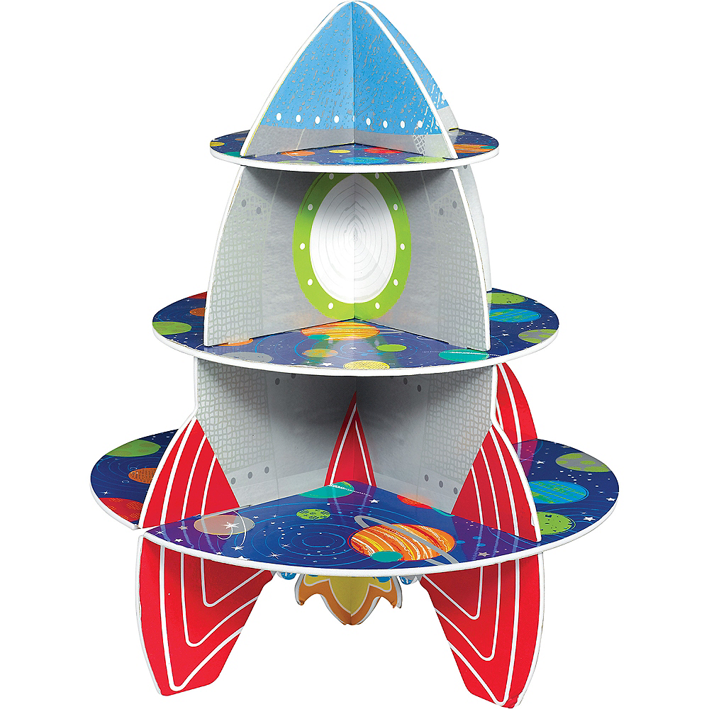 Nav Item for Blast Off Rocket Cupcake Stand Image #1