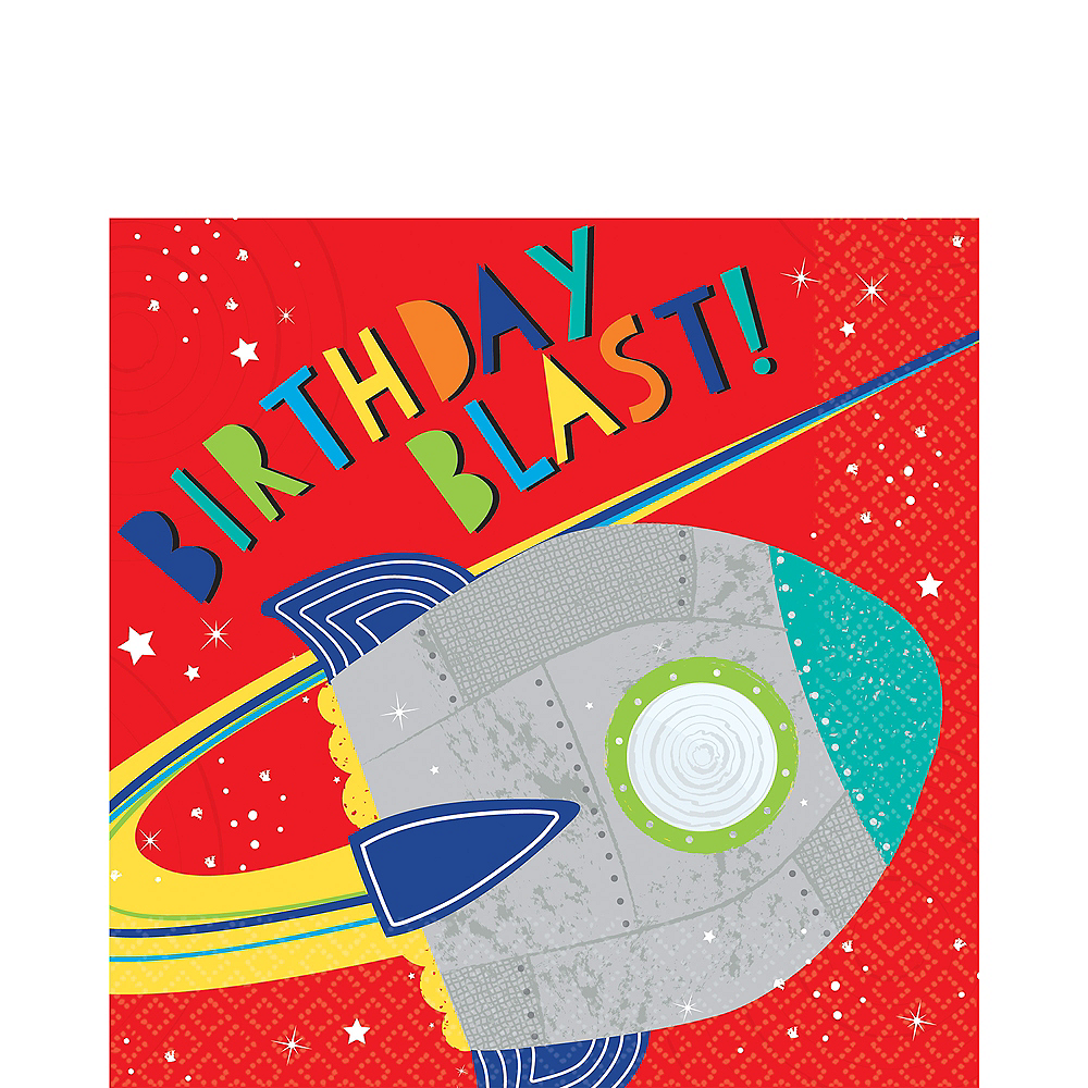 Blast Off Birthday Lunch Napkins 16ct Image #1