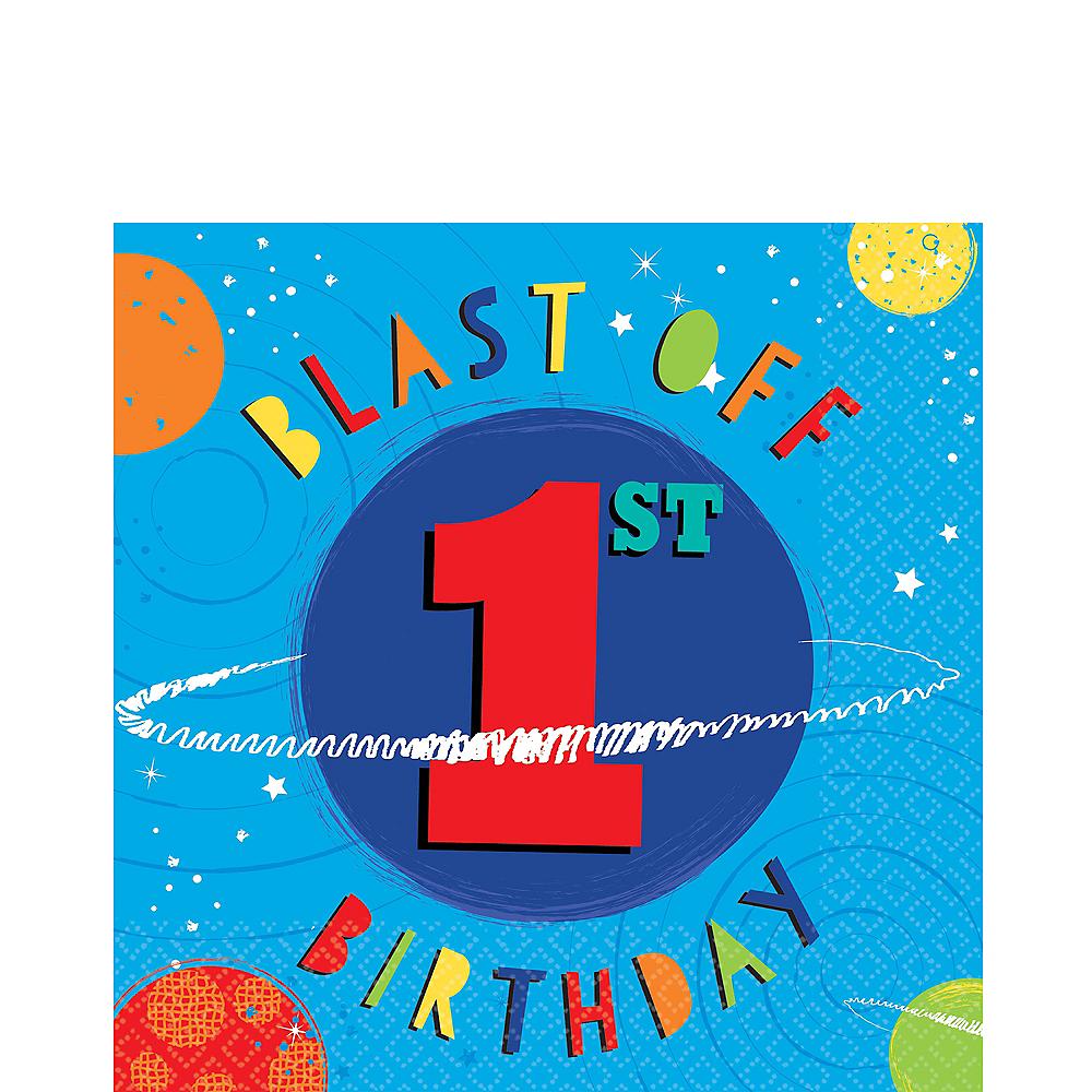 Blast Off 1st Birthday Lunch Napkins 16ct Image #1