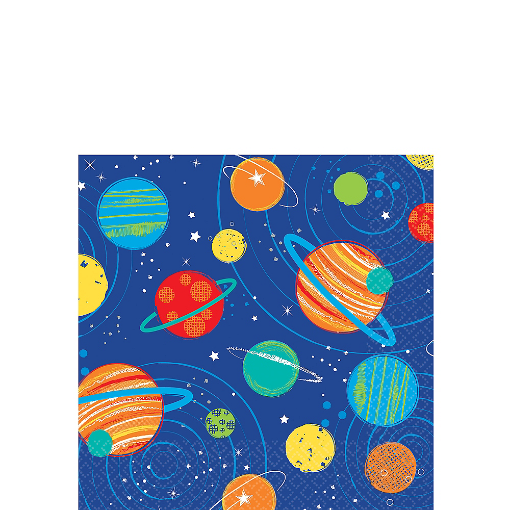 Blast Off Beverage Napkins 16ct Image #1