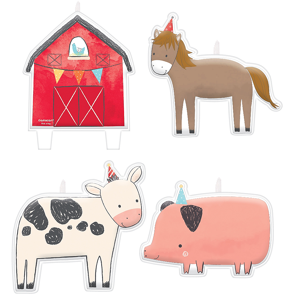 Nav Item for Friendly Farm Birthday Candles 4ct Image #1