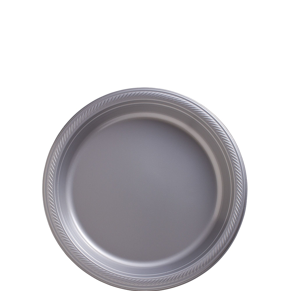 Gold & Silver Plastic Tableware Kit for 100 Guests Image #2