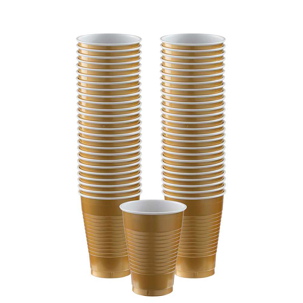 Gold & Silver Plastic Tableware Kit for 100 Guests Image #6