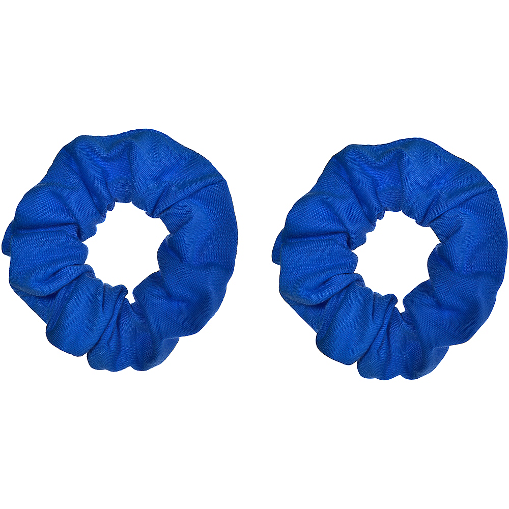 Blue Hair Scrunchies 2ct Image #1