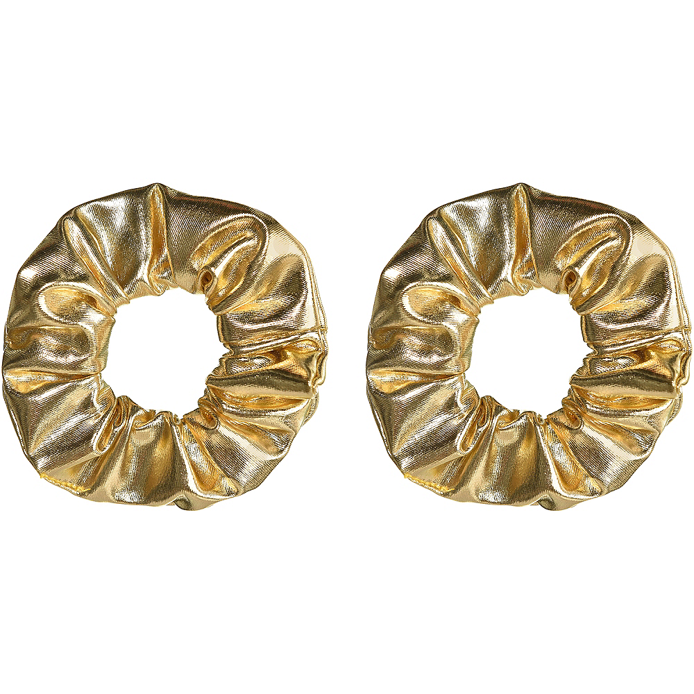 Gold Hair Scrunchies 2ct Image #1