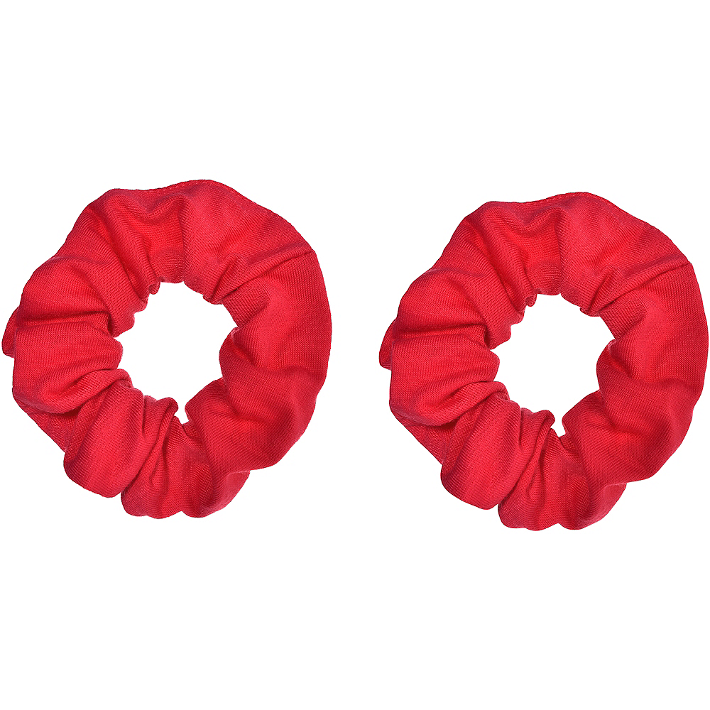 Red Hair Scrunchies 2ct Image #1