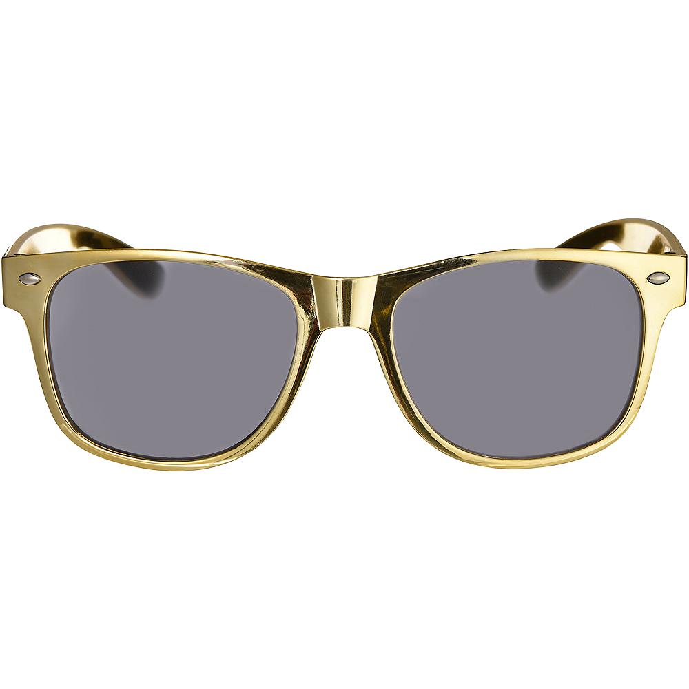 Classic Metallic Gold Frame Sunglasses Image #1