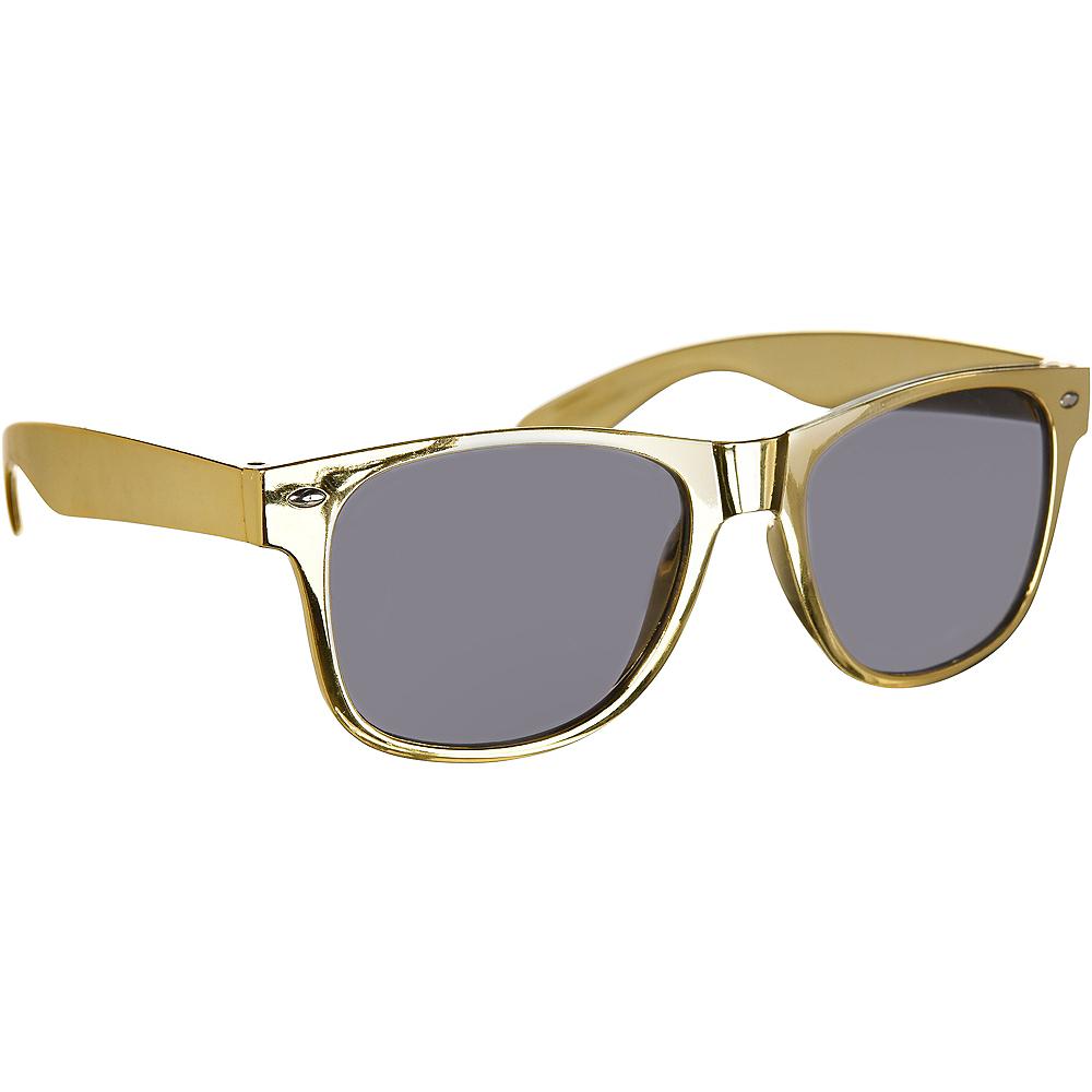Classic Metallic Gold Frame Sunglasses Image #2