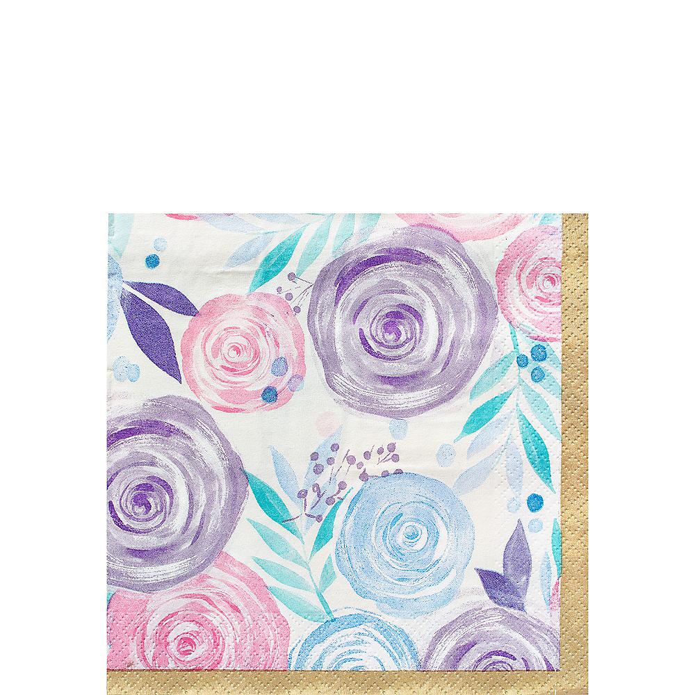 Pastel Floral Beverage Napkins 16ct Image #1