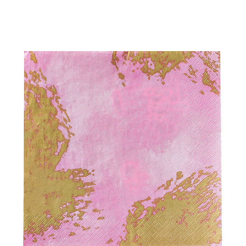 Pink Brushstroke Lunch Napkins 16ct Image #1