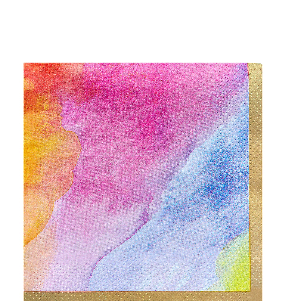 Watercolor Rainbow Lunch Napkins 16ct Image #1