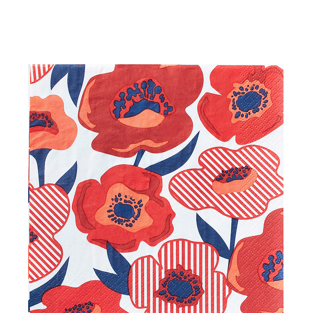 Red Poppy Lunch Napkins 16ct Image #1
