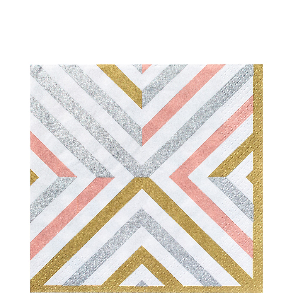 Nav Item for Mixed Metallic Geometric Lunch Napkins 16ct Image #1