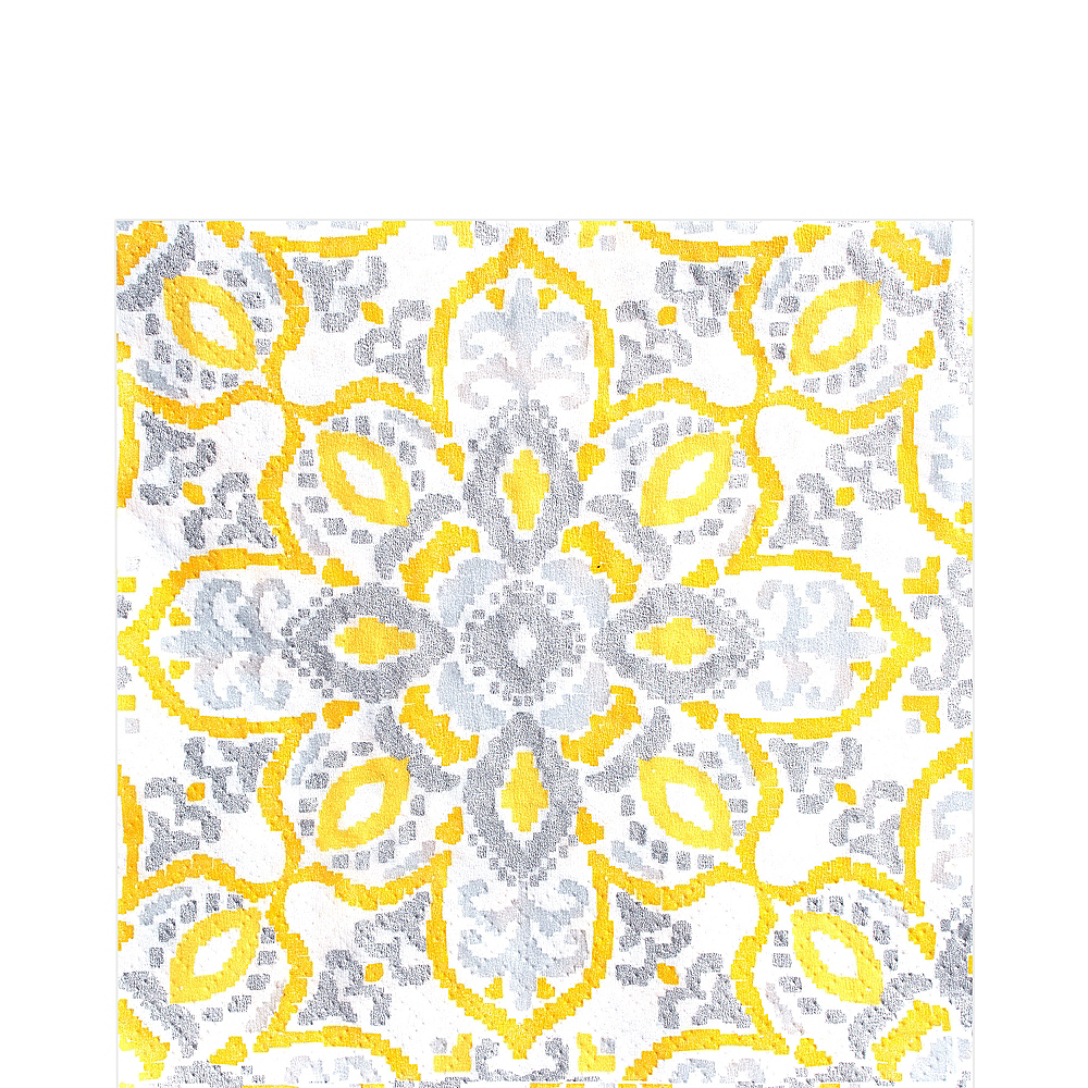 Yellow Tile Lunch Napkins 16ct Image #1