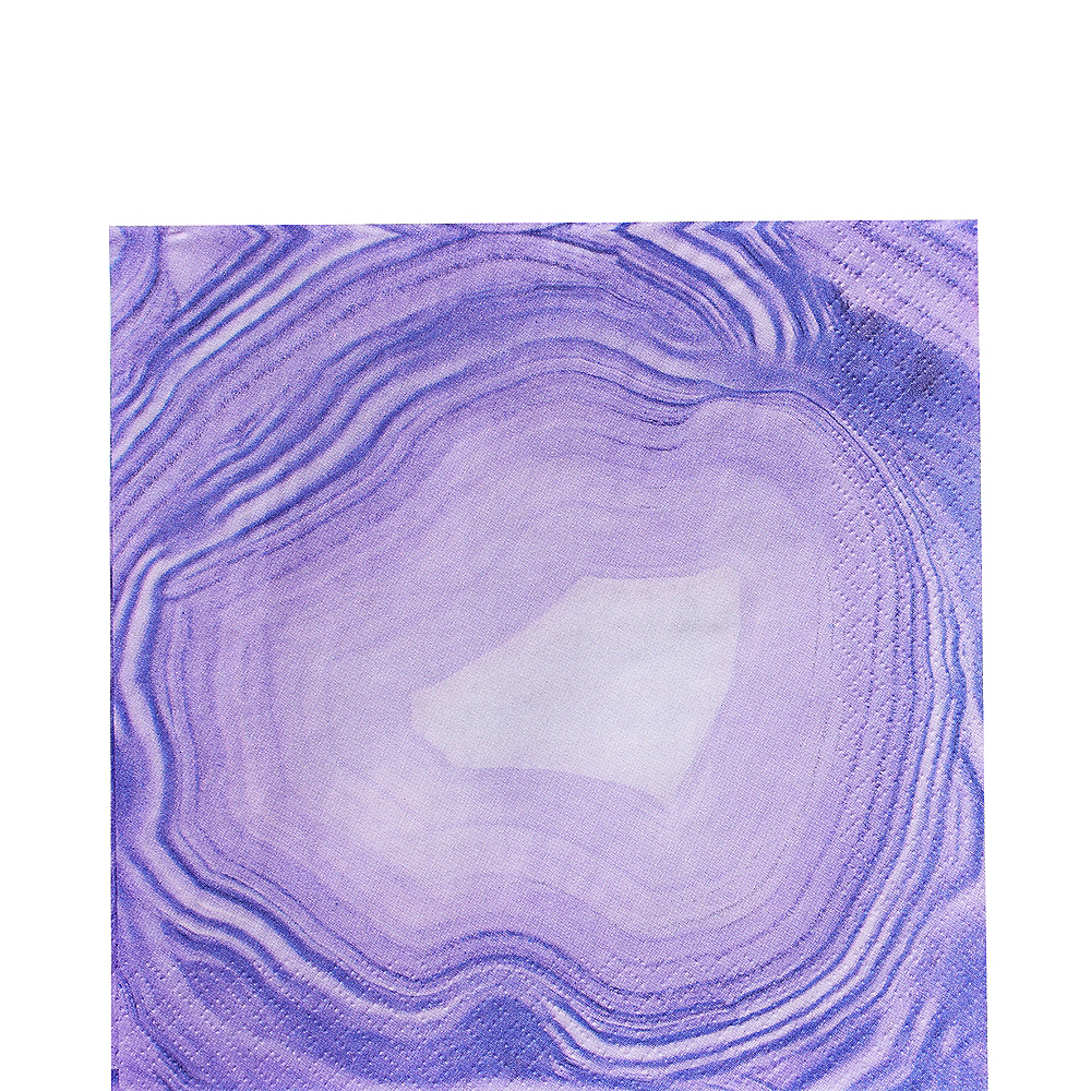 Purple Geode Lunch Napkins 16ct Image #1