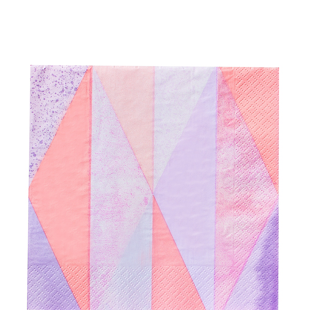Pink Geometric Lunch Napkins 16ct Image #1
