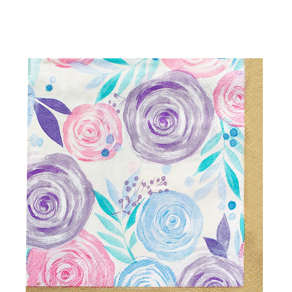 Pastel Floral Lunch Napkins 16ct Image #1