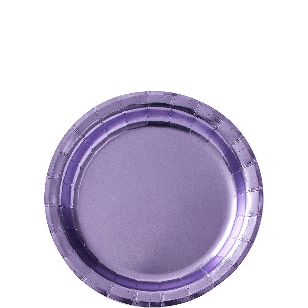 Metallic Lavender Dessert Plates 8ct Image #1