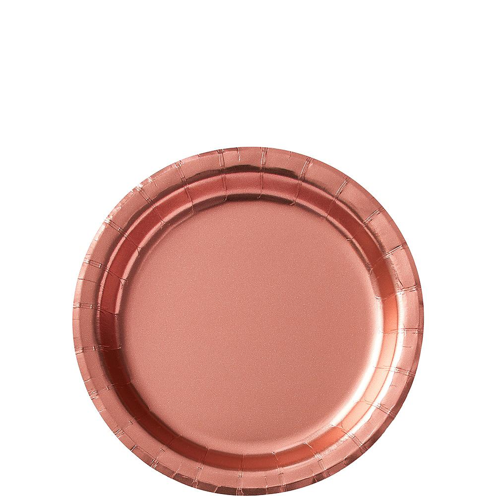 Metallic Rose Gold Dessert Plates 8ct Image #1