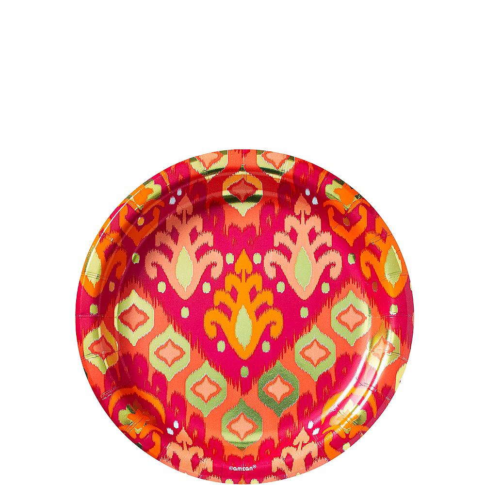 Metallic Orange Ikat Dessert Plates 8ct Image #1