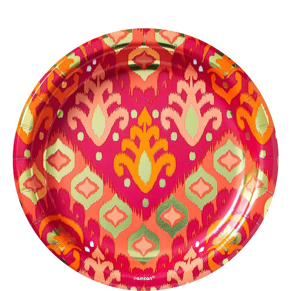 Metallic Orange Ikat Lunch Plates 8ct Image #1