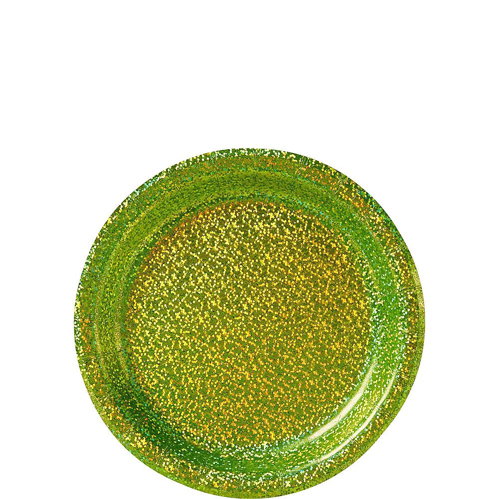 Prismatic Kiwi Green Dessert Plates 8ct Image #1