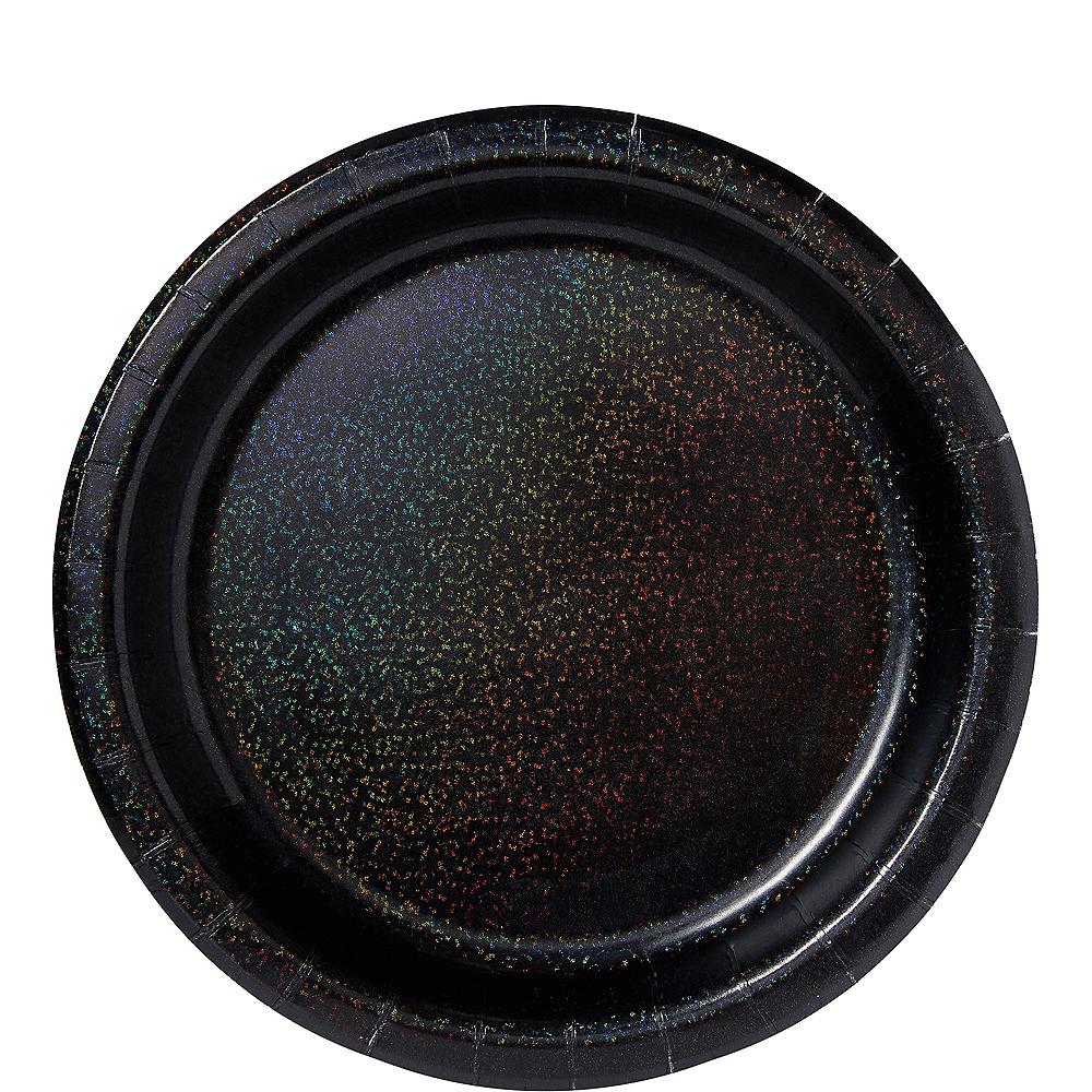 Prismatic Black Lunch Plates 8ct Image #1