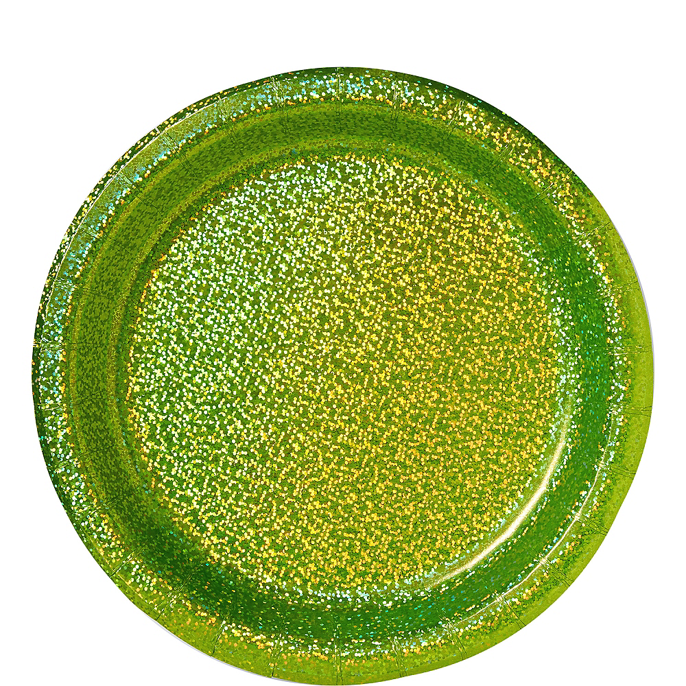 Prismatic Kiwi Green Lunch Plates, 8.5in, 8ct Image #1