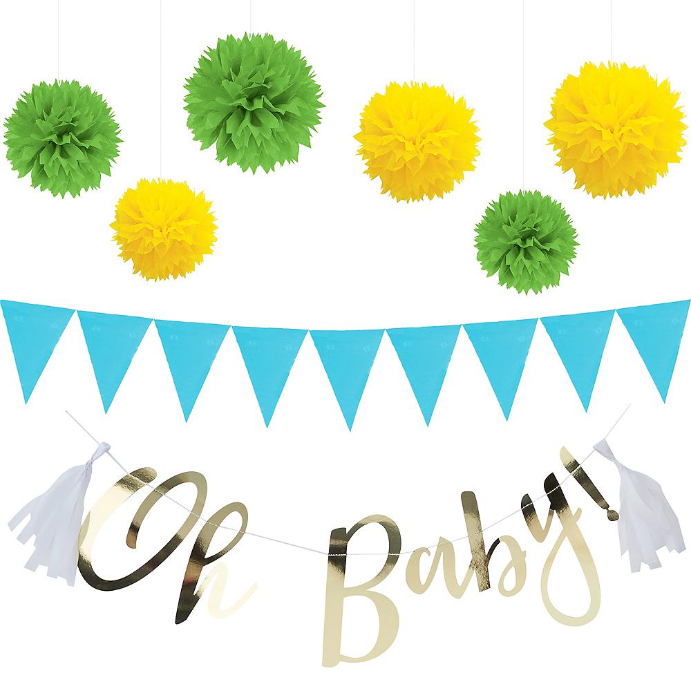 Blue Adventure Begins Baby Shower Decorating Kit Image #1