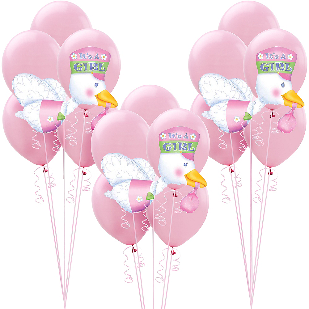 Pink Adventure Begins Baby Shower Balloon Kit Image #1