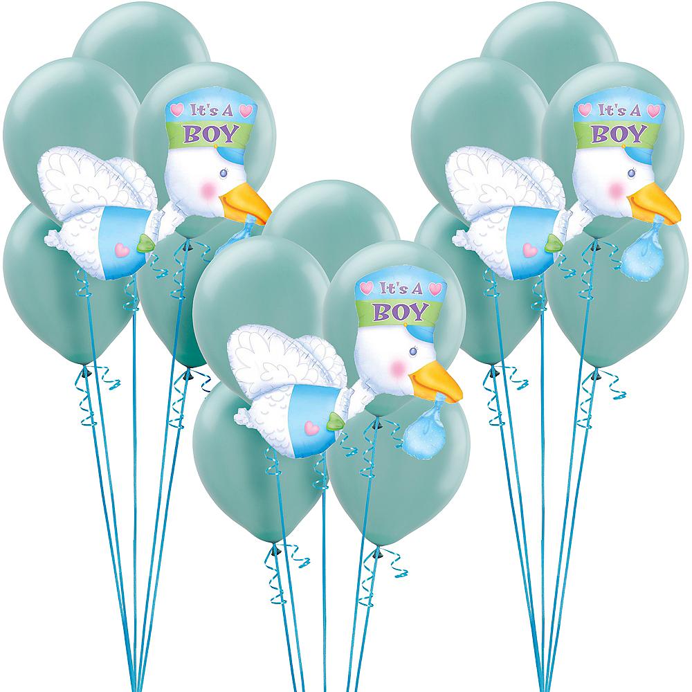 Blue Adventure Begins Baby Shower Balloon Kit Image #1