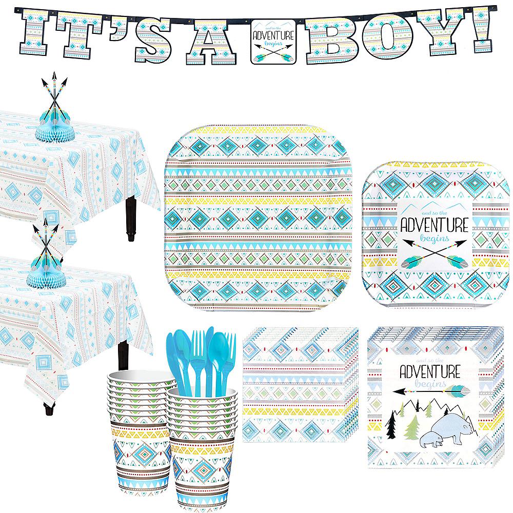 Blue Adventure Begins Baby Shower Kit for 32 Guests Image #1