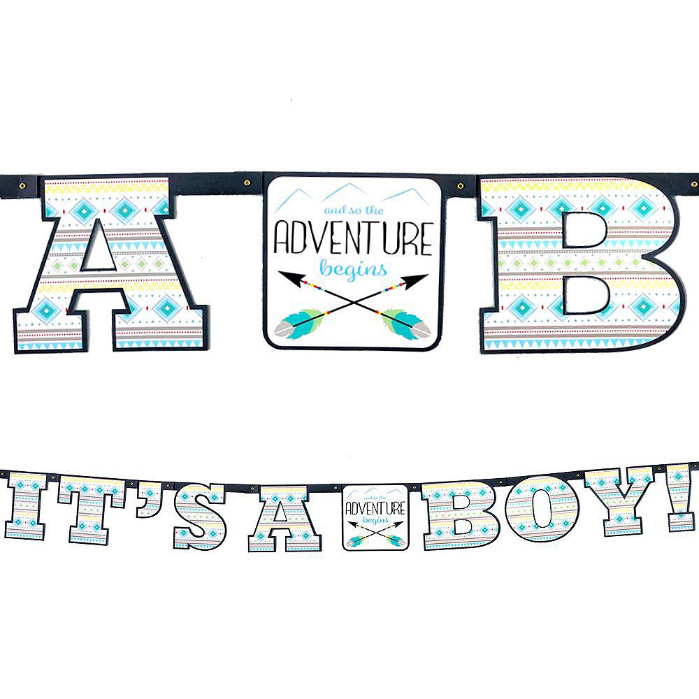 Blue Adventure Begins Premium Baby Shower Kit for 32 Guests Image #12