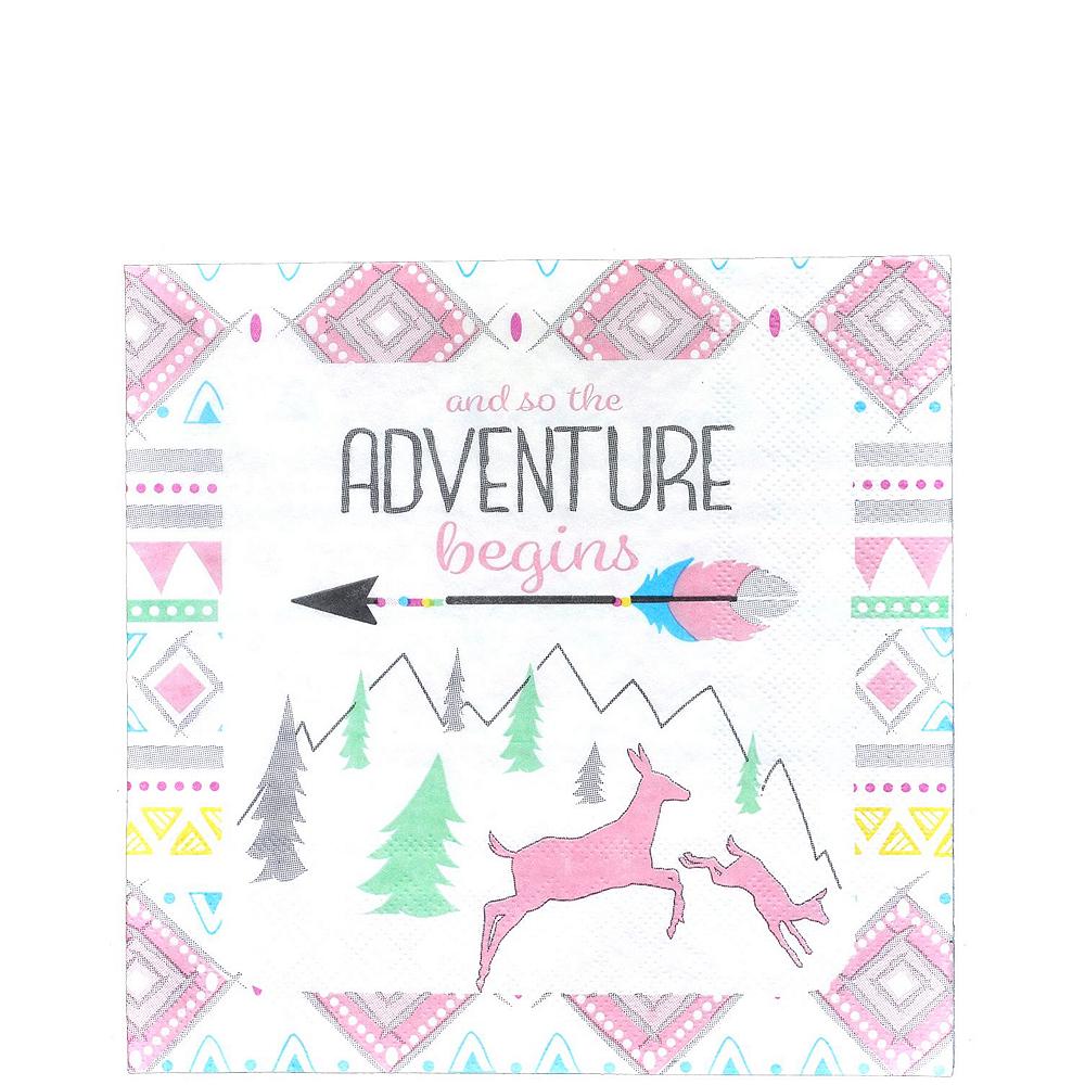 Pink Adventure Begins Baby Shower Kit for 16 Guests Image #5