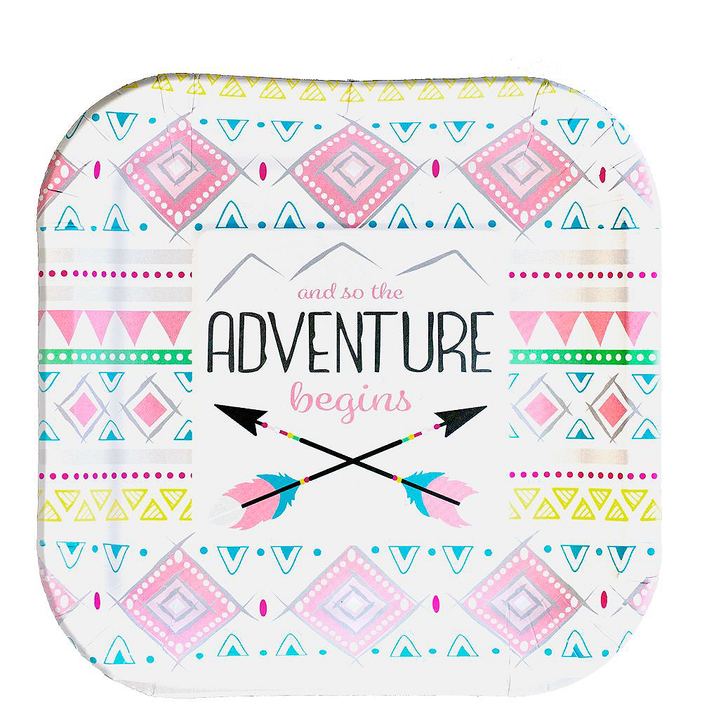 Pink Adventure Begins Premium Baby Shower Kit for 32 Guests Image #2
