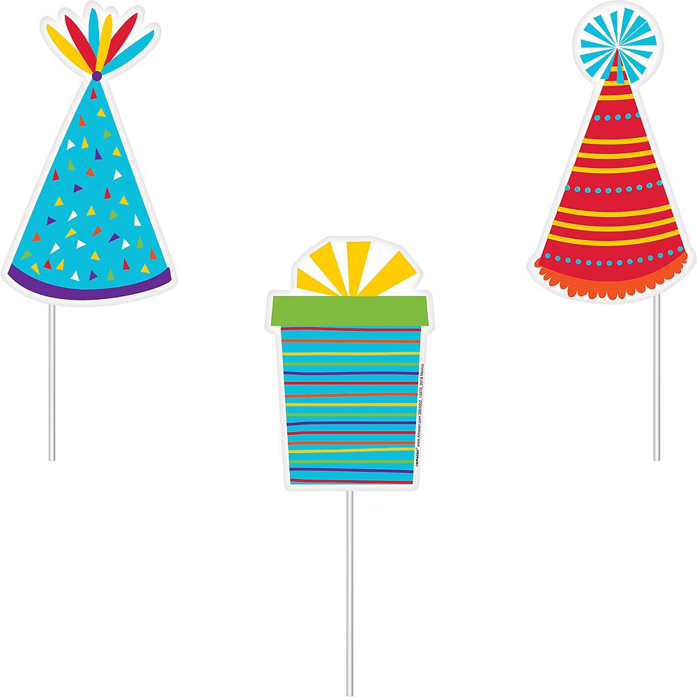 Rainbow Birthday Photo Booth Props 13ct Image #4