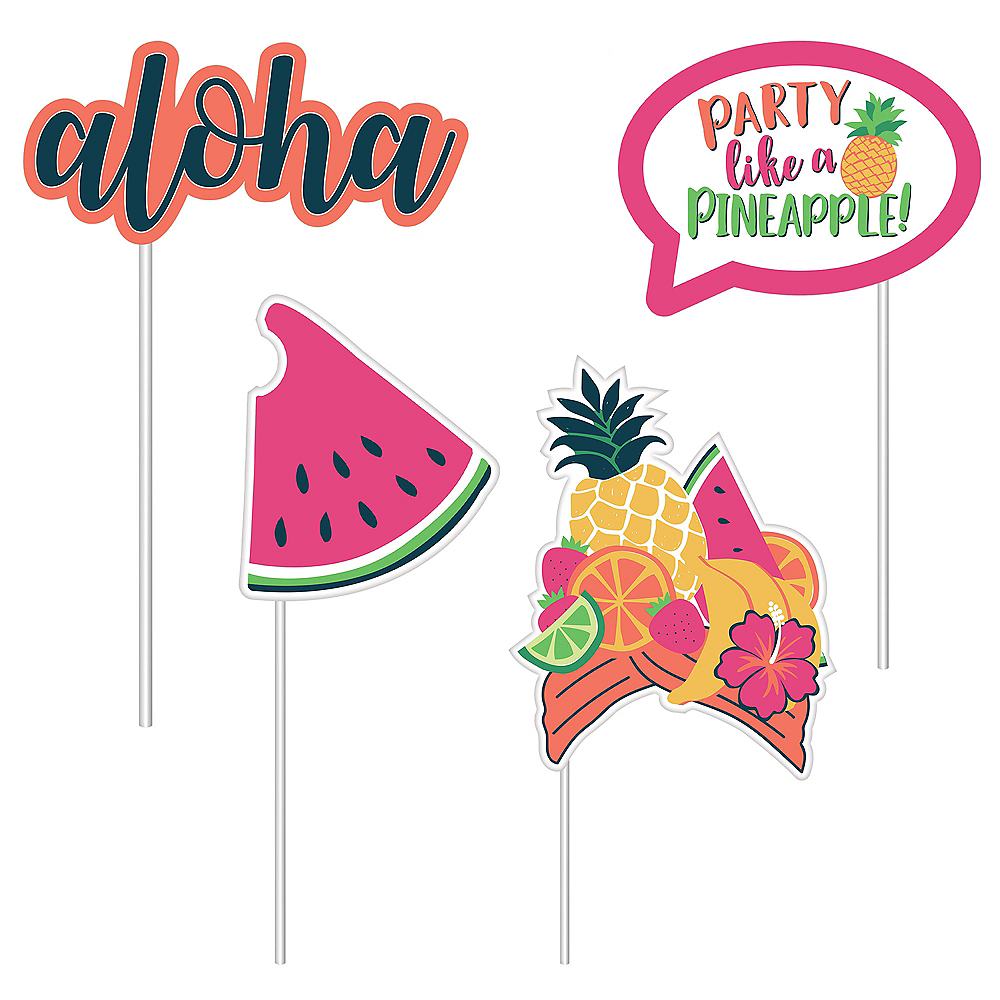Trendy Tropical Photo Booth Props Image #3