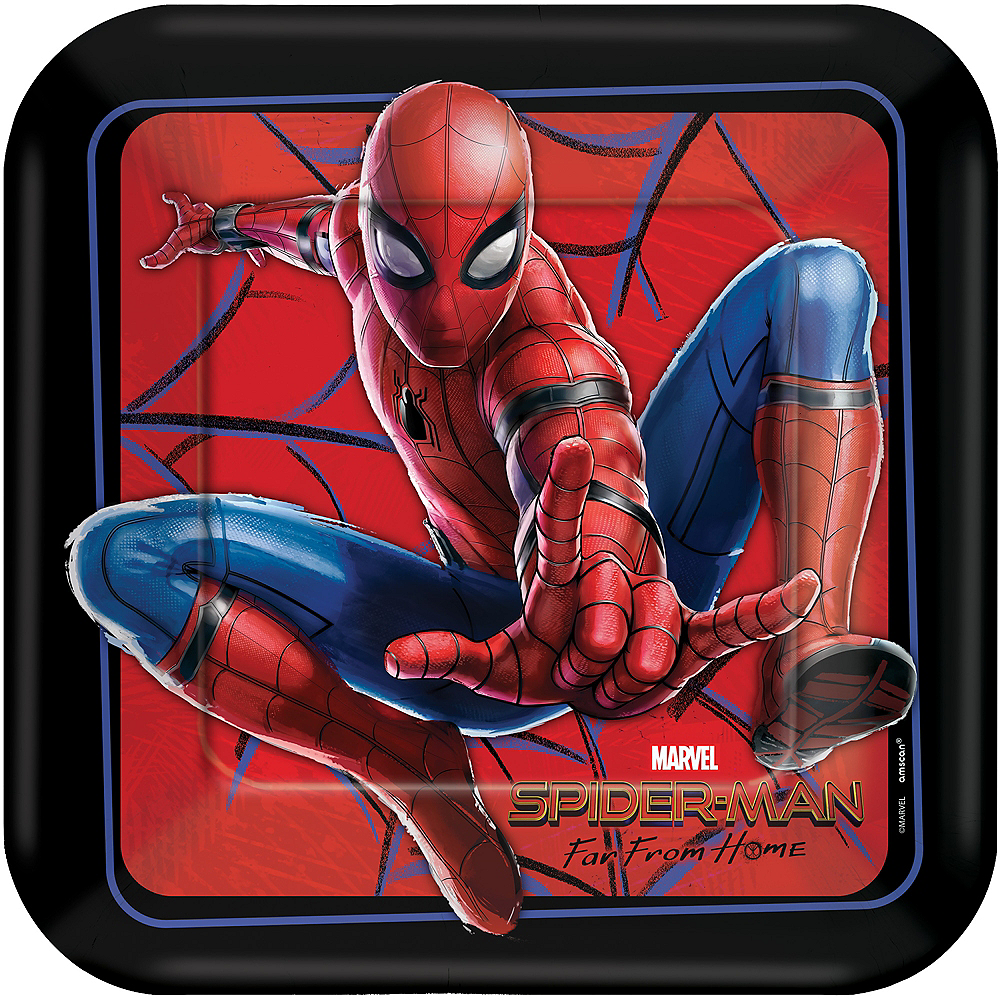Spider-Man: Far From Home Lunch Plates 8ct Image #1